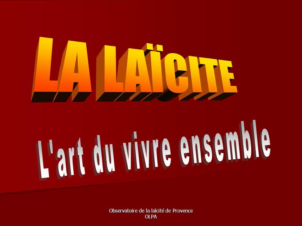 Observatoire de la laïcité de Provence OLPA