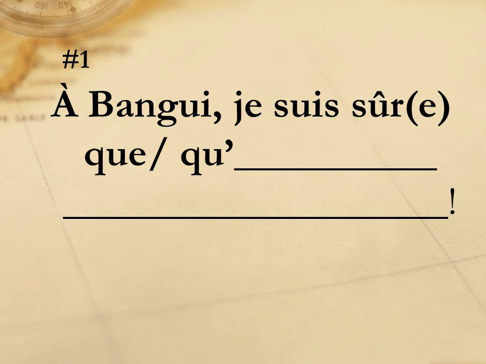 Instructions: Avec votre groupe, terminez les phrases suivantes avec une fin appropriée.