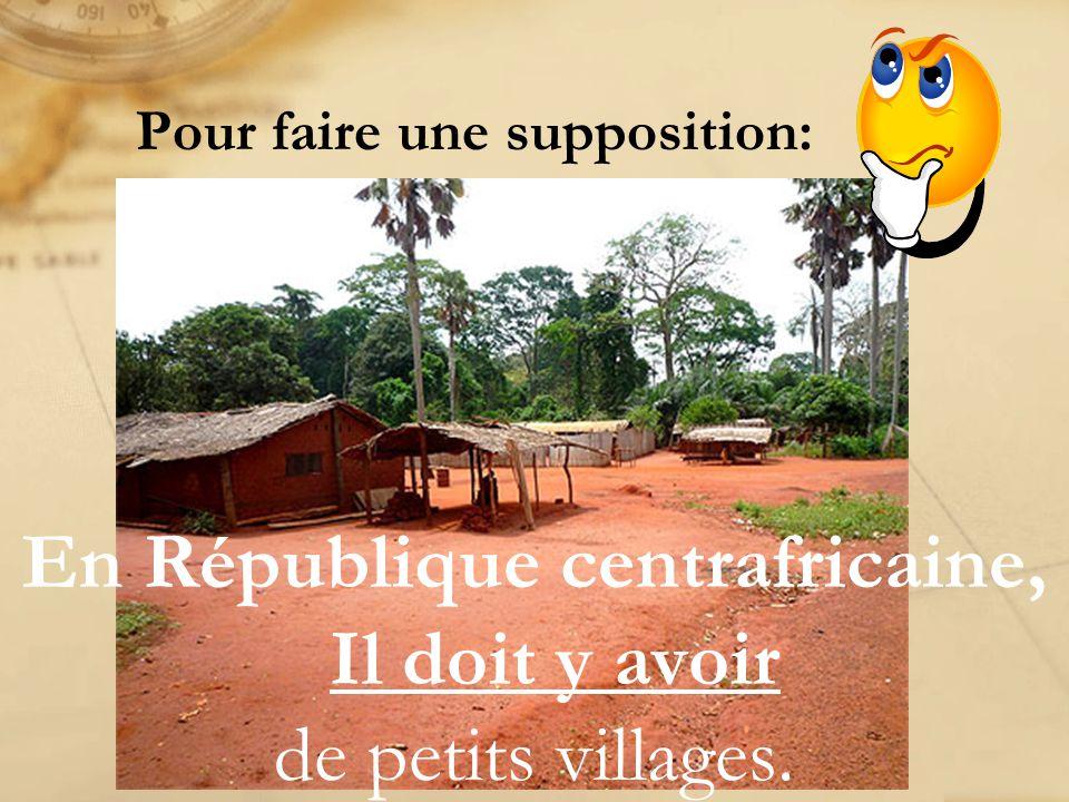 En République centrafricaine, ça doit être _______________! #1