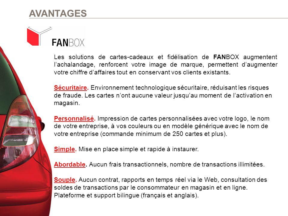 Les solutions de cartes-cadeaux et fidélisation de FANBOX augmentent l'achalandage, renforcent votre image de marque, permettent d'augmenter votre chi