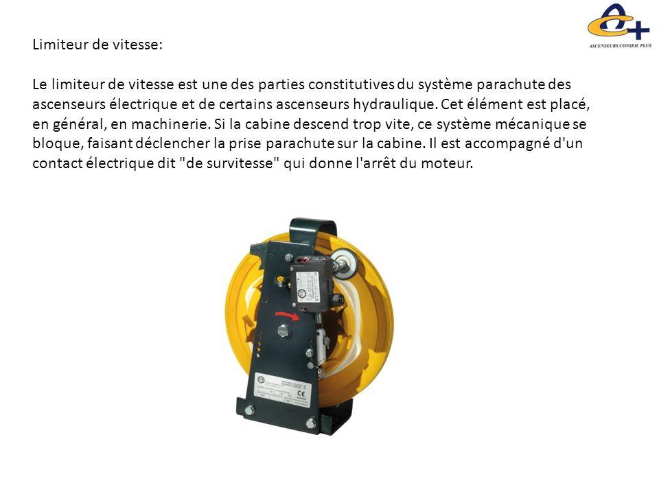 Limiteur de vitesse: Le limiteur de vitesse est une des parties constitutives du système parachute des ascenseurs électrique et de certains ascenseurs