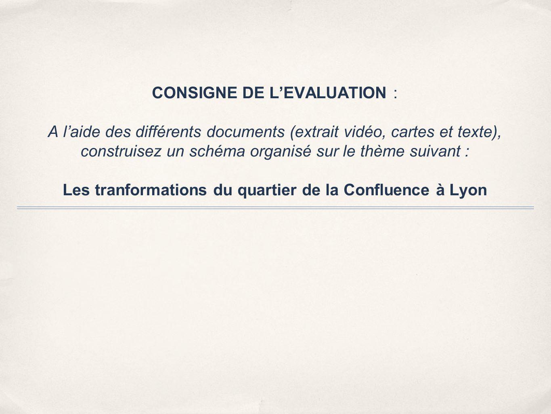 CONSIGNE DE L'EVALUATION : A l'aide des différents documents (extrait vidéo, cartes et texte), construisez un schéma organisé sur le thème suivant : L