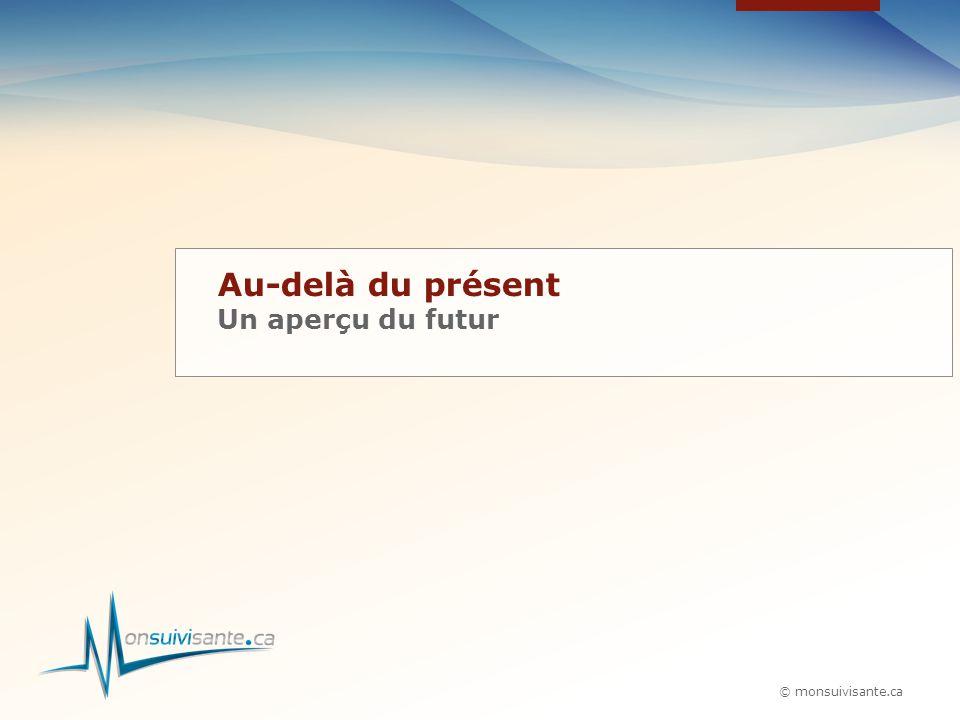 © monsuivisante.ca Au-delà du présent Un aperçu du futur