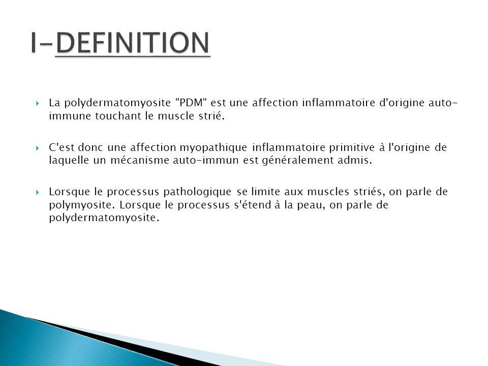  A/Manifestations musculaires :  B/ Manifestations cutanées :  C/ Autres manifestations :
