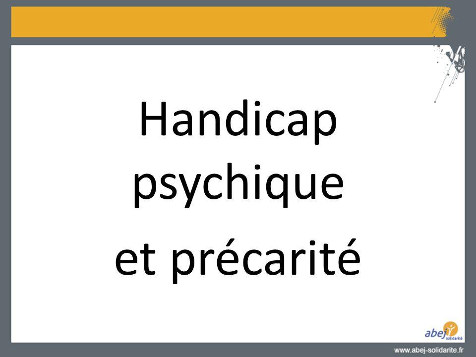 Handicap psychique et précarité