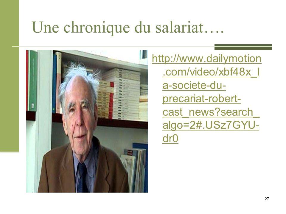 Une chronique du salariat….