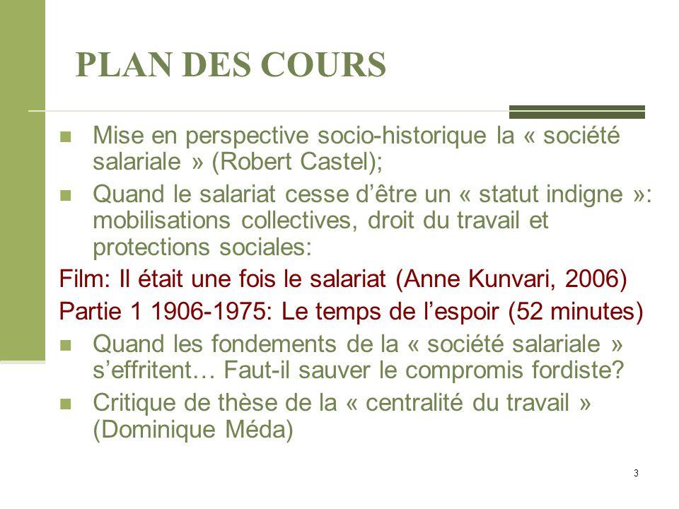 De la « société salariale » à la « désaffiliation » Castel appelle donc au maintien des deux ordres qui fondent la « société salariale »: 1.
