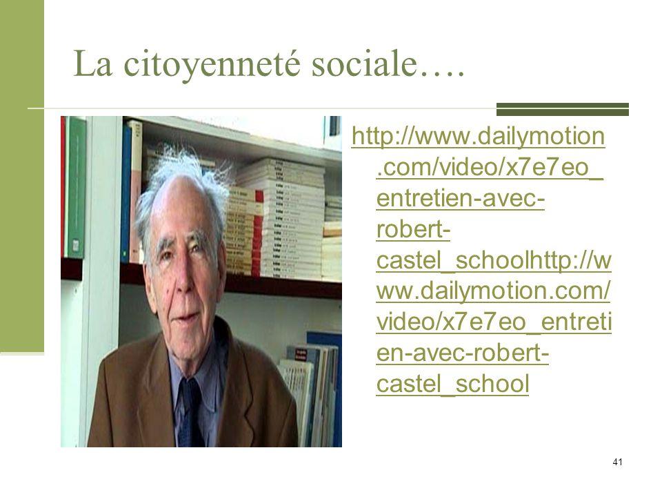 La citoyenneté sociale….