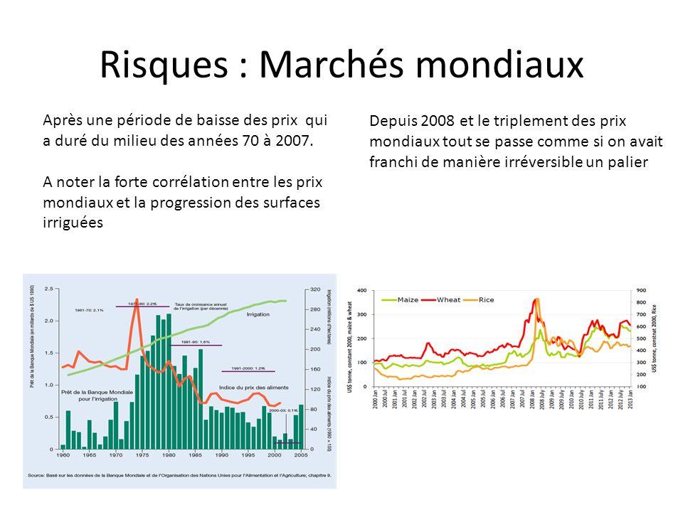 Risques : Marchés mondiaux Après une période de baisse des prix qui a duré du milieu des années 70 à 2007.