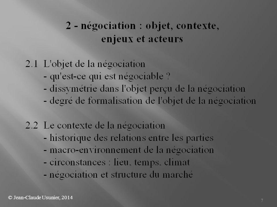  3/ Persuasion : les parties tentent de modifier les utilités subjectives attendues par l'autre partie en utilisant différentes tactiques de persuasion.