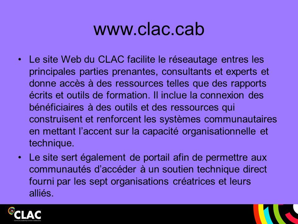 www.clac.cab Le site Web du CLAC facilite le réseautage entres les principales parties prenantes, consultants et experts et donne accès à des ressourc