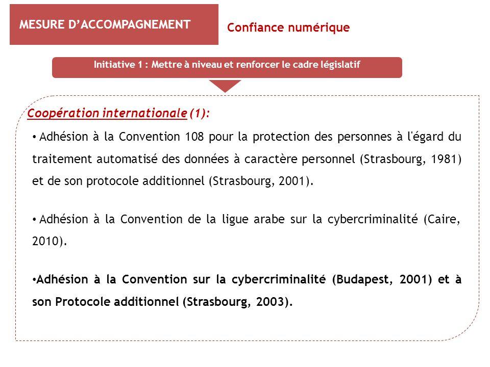 MESURE D'ACCOMPAGNEMENT Coopération internationale (1): Confiance numérique Adhésion à la Convention 108 pour la protection des personnes à l'égard du