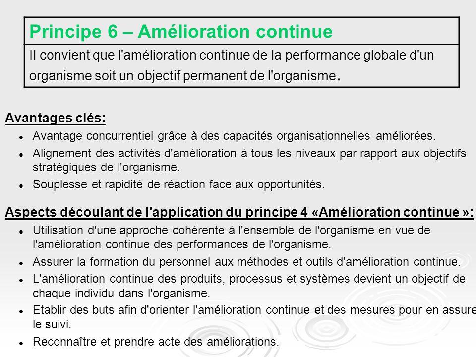 Avantages clés: Avantage concurrentiel grâce à des capacités organisationnelles améliorées.