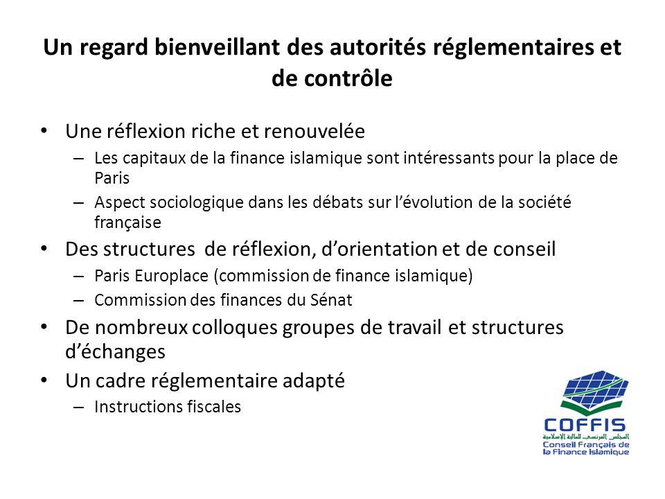 Un regard bienveillant des autorités réglementaires et de contrôle Une réflexion riche et renouvelée – Les capitaux de la finance islamique sont intér