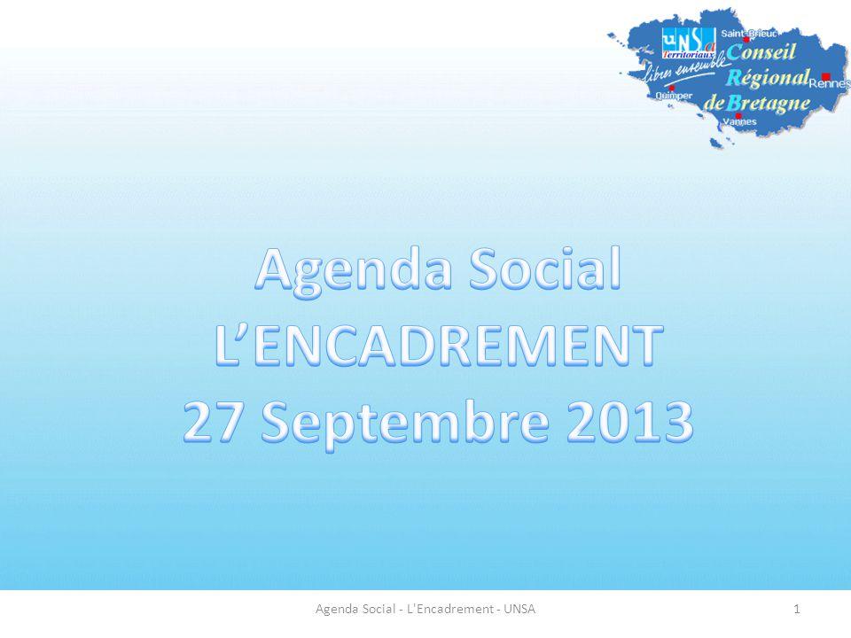 Agenda Social - L'Encadrement - UNSA1