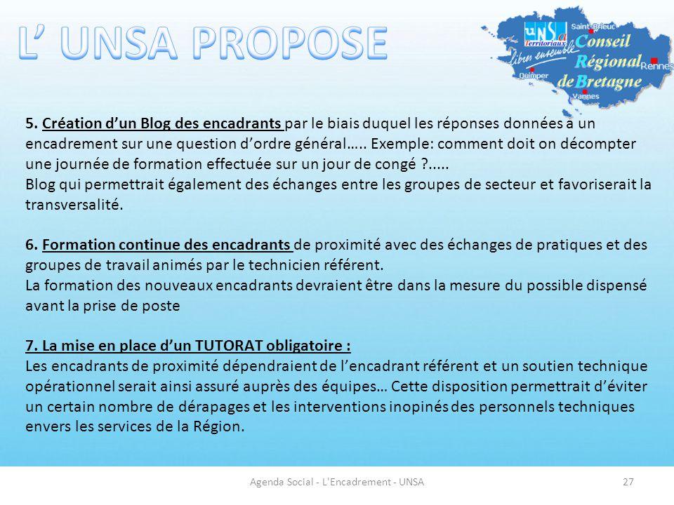Agenda Social - L Encadrement - UNSA27 5.