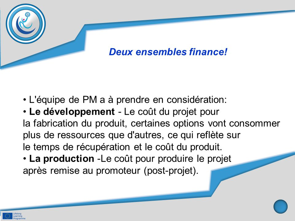 Deux ensembles finance.
