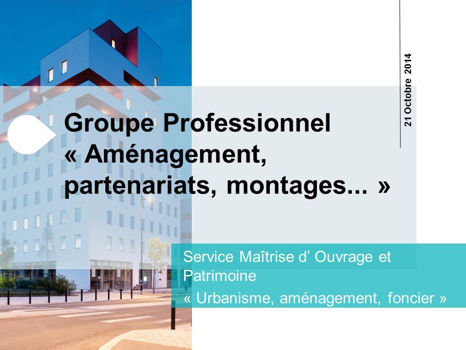 Groupe Professionnel « Aménagement, partenariats, montages...