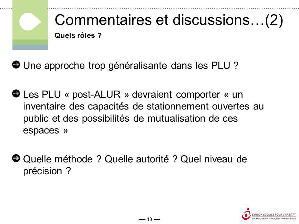 18 Commentaires et discussions…(2) Une approche trop généralisante dans les PLU .