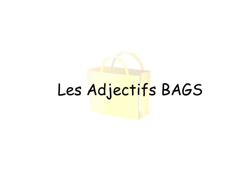 Les Adjectifs BAGS