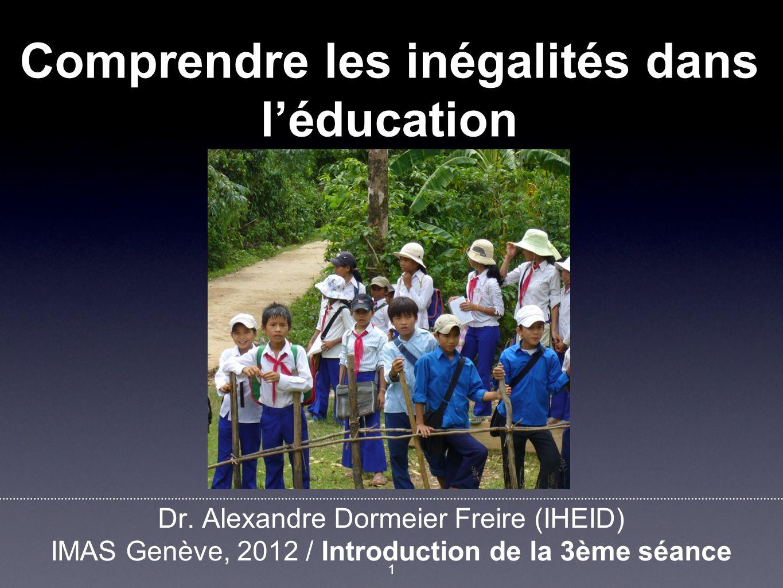 Plan 1. Définitions 2. Approches principales et mesure des inégalités 2 ADF Session 3