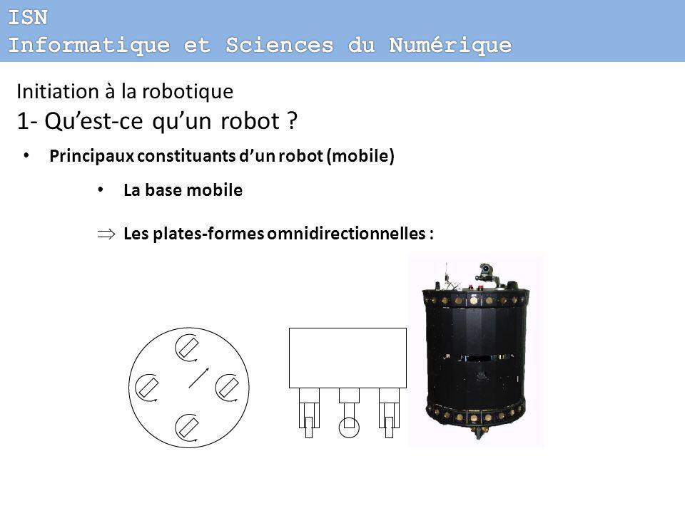 Initiation à la robotique 1- Qu'est-ce qu'un robot .