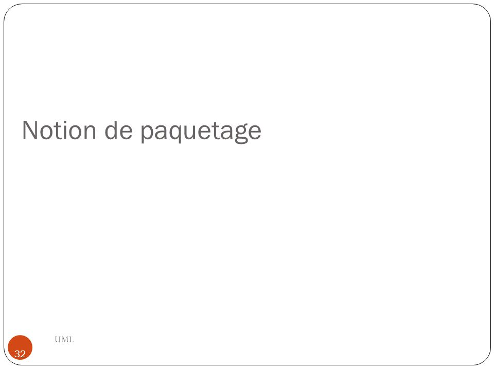 Notion de paquetage UML 32
