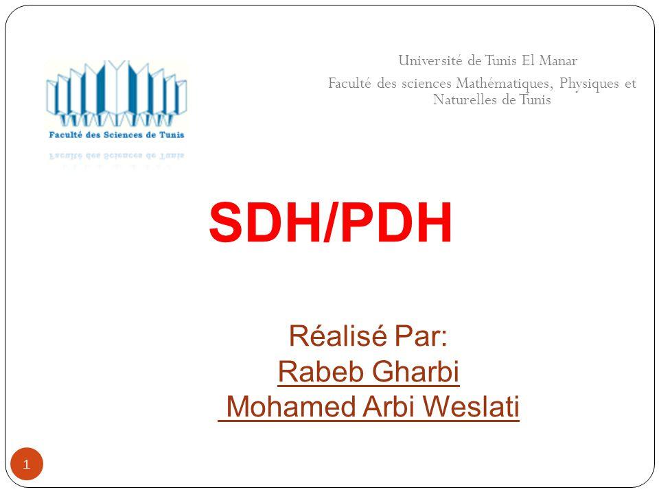 1 Université de Tunis El Manar Faculté des sciences Mathématiques, Physiques et Naturelles de Tunis SDH/PDH Réalisé Par: Rabeb Gharbi Mohamed Arbi Wes
