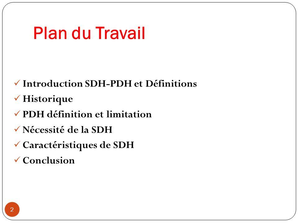 Conclusion 33  L intérêt de la SDH est la richesse des fonctions de gestion, de surveillance, d alarmes et d autocicatrisation.