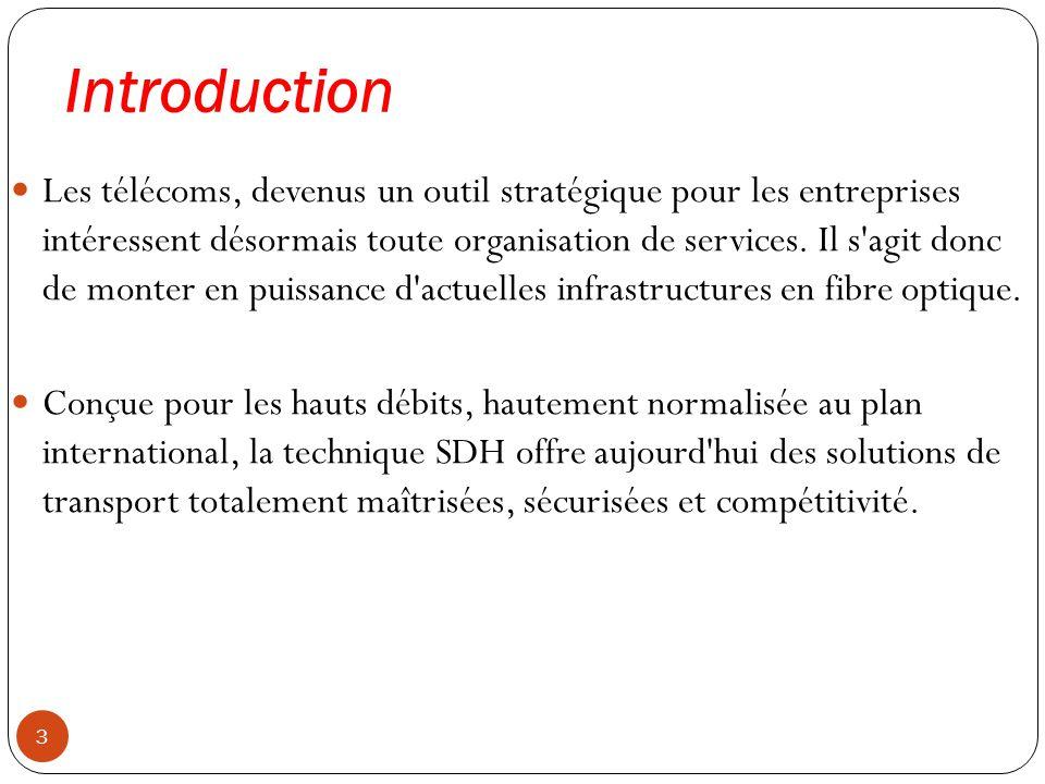 Introduction 3 Les télécoms, devenus un outil stratégique pour les entreprises intéressent désormais toute organisation de services. Il s'agit donc de