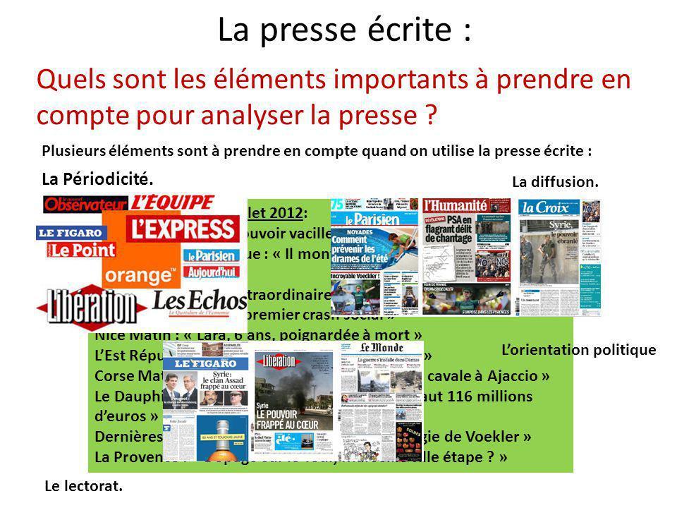 La presse écrite : Comment identifier les éléments importants à savoir sur un journal .