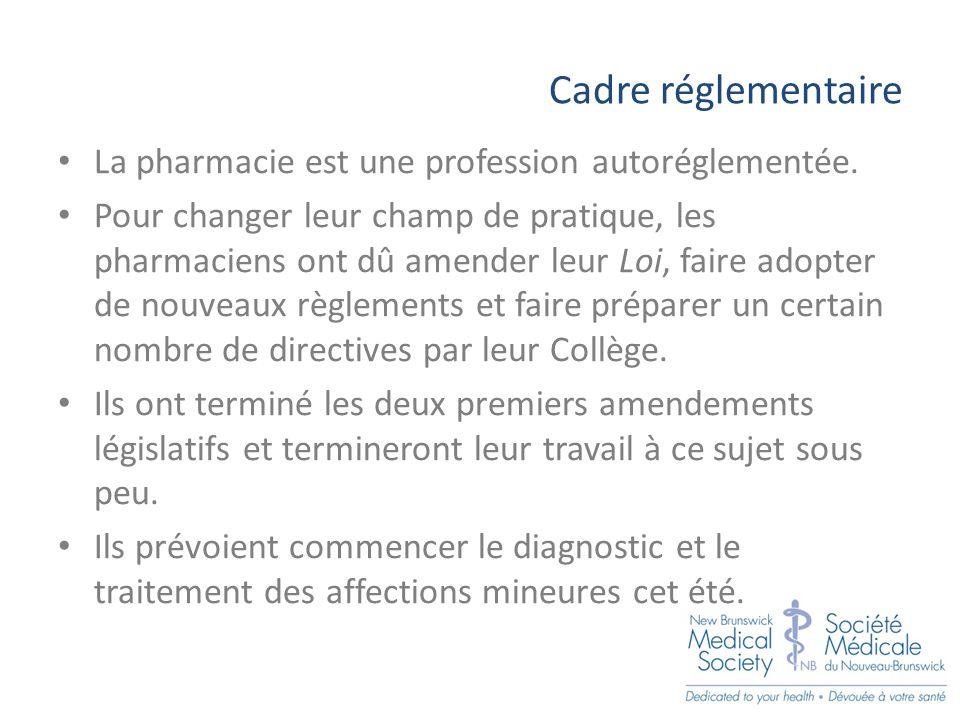 Proposition de base Les pharmaciens pourront diagnostiquer et traiter plus de 30 affections mineures.