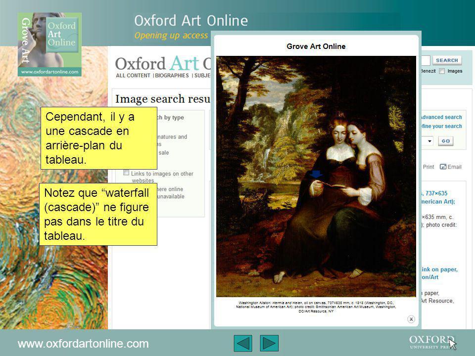 www.oxfordartonline.com Vous pouvez également rechercher une image d'une œuvre directement, même si vous ne connaissez pas le nom de l'artiste ou son titre.