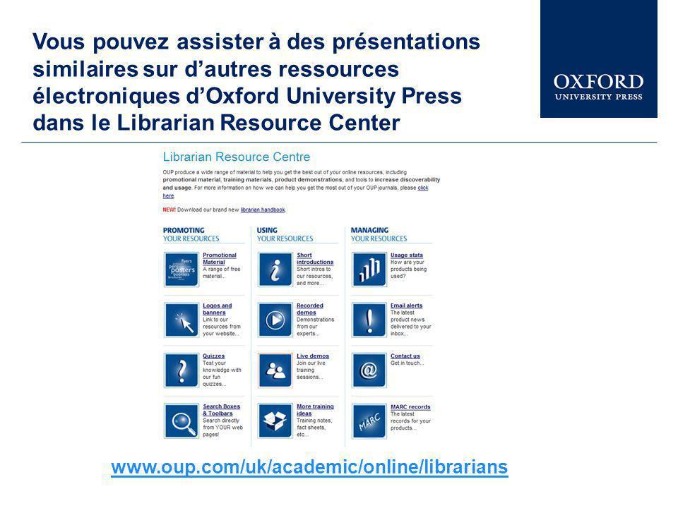 Cette présentation explore une petite partie d Oxford Art Online.