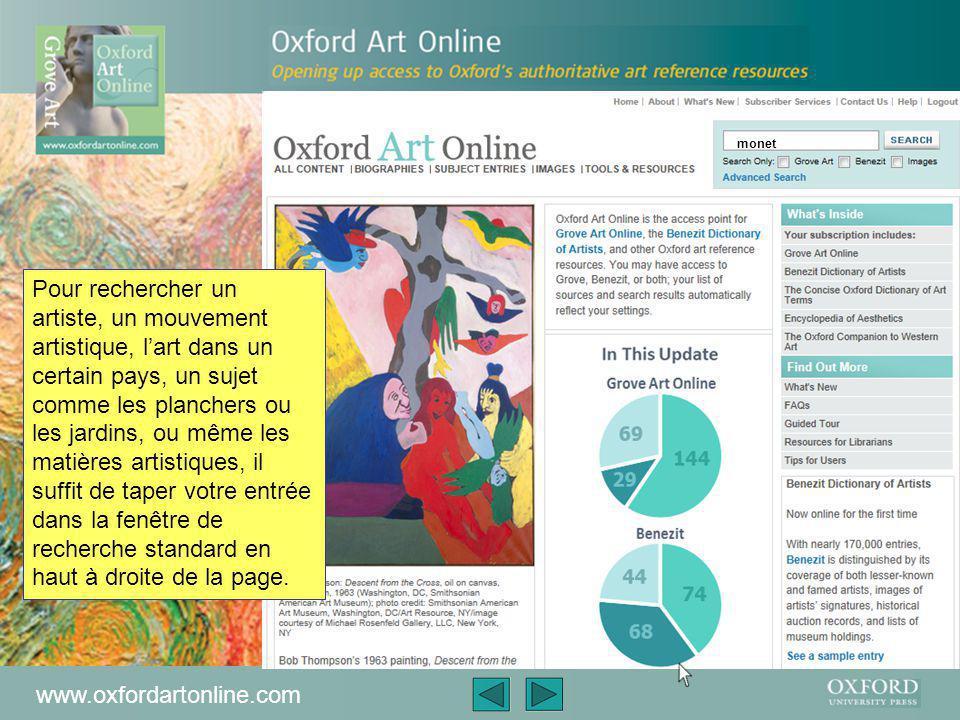 www.oxfordartonline.com Si vous vous abonnez à « Benezit Dictionary of Artists », vous aurez accès à son contenu a partir d'ici.