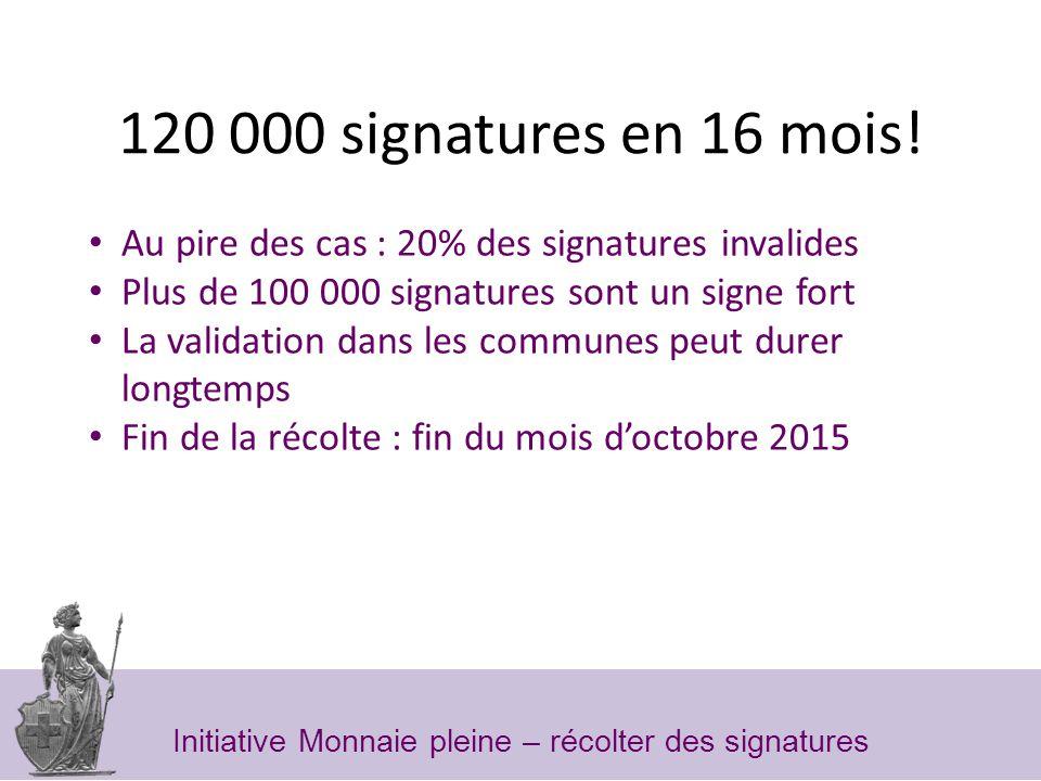 120 000 signatures en 16 mois.