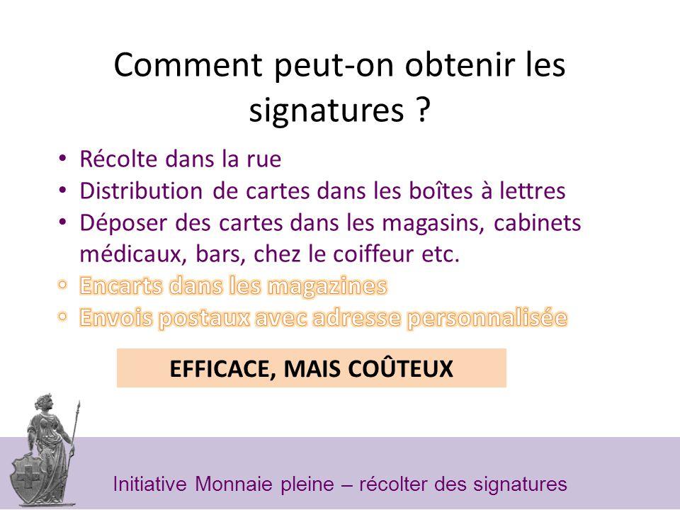 Comment peut-on obtenir les signatures .