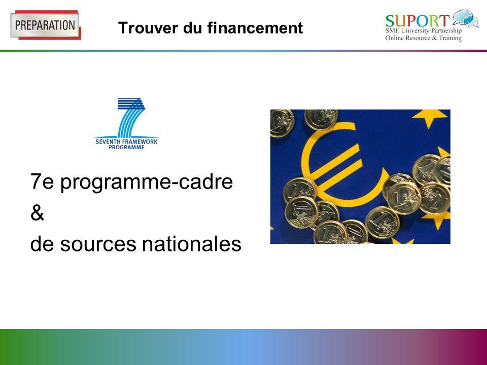 Trouver du financement 7e programme-cadre & de sources nationales