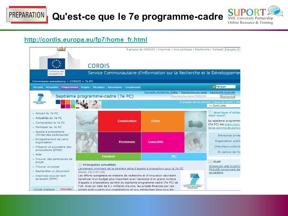 Qu est-ce que le 7e programme-cadre http://cordis.europa.eu/fp7/home_fr.html
