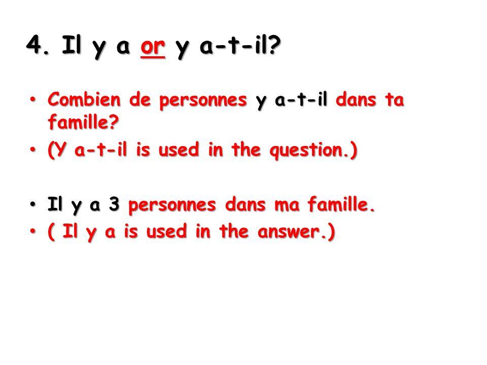 5.Les questions difficiles…. Est-ce que tu avais un examen aujourd'hui.