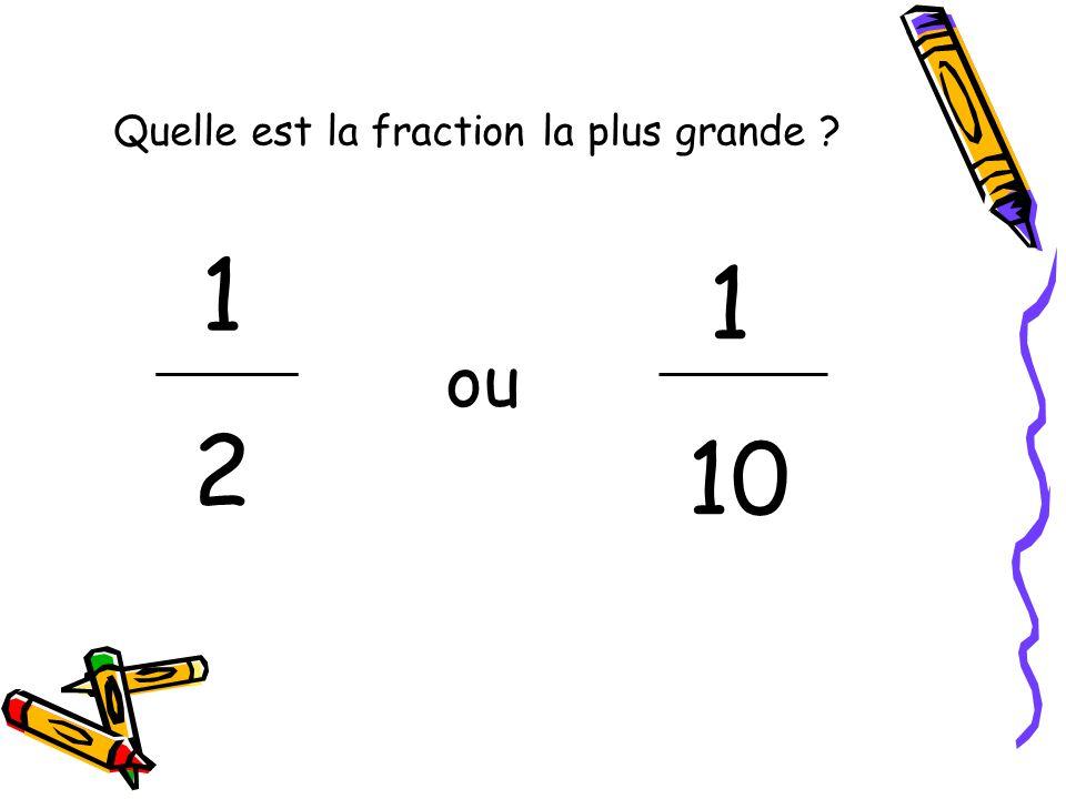 Quelle est la fraction la plus grande ? 1212 1 10 ou