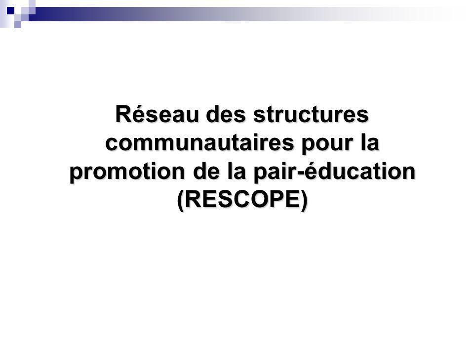 Réseau des structures communautaires pour la promotion de la pair-éducation (RESCOPE)