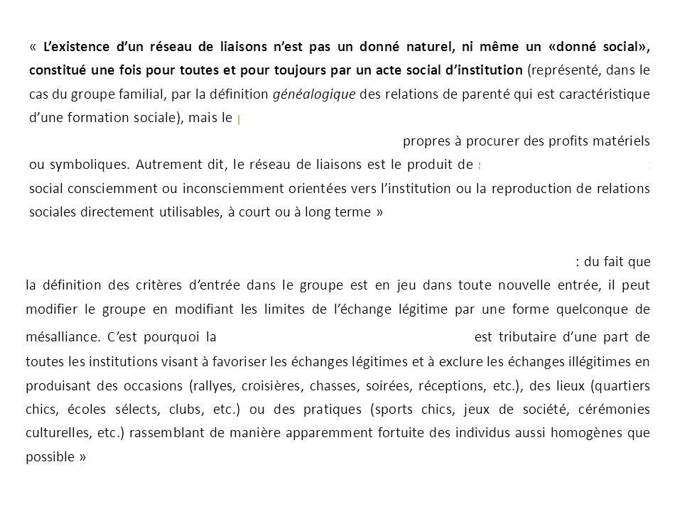 « Chaque membre du groupe se trouve ainsi institué en gardien des limites du groupe : du fait que la définition des critères d'entrée dans le groupe e