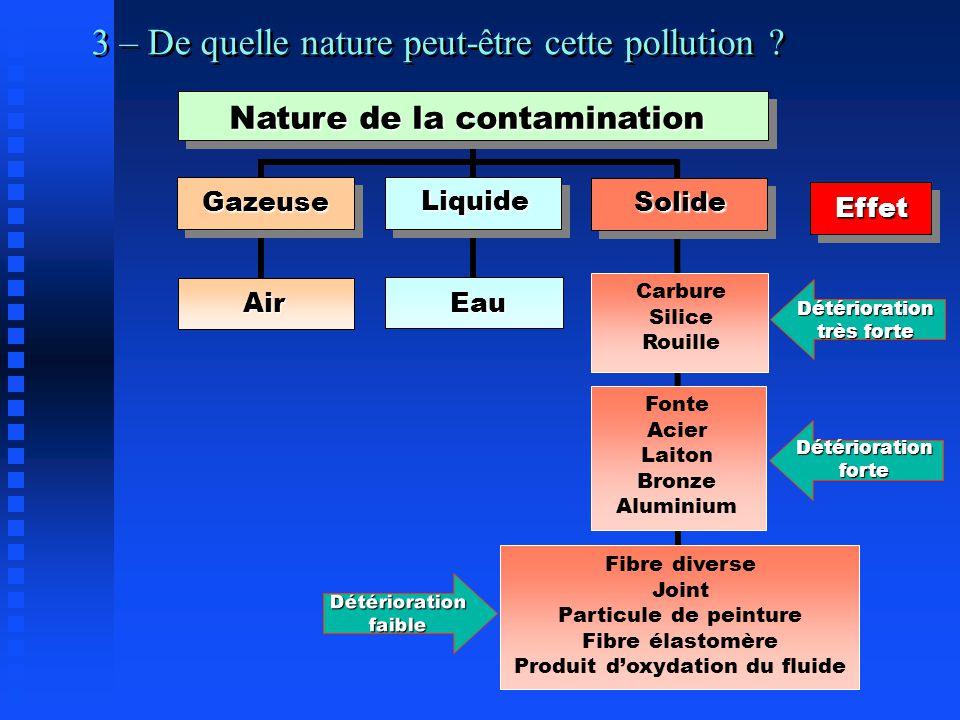 3 – De quelle nature peut-être cette pollution .