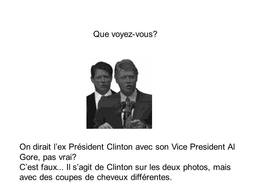 On dirait l'ex Président Clinton avec son Vice President Al Gore, pas vrai.
