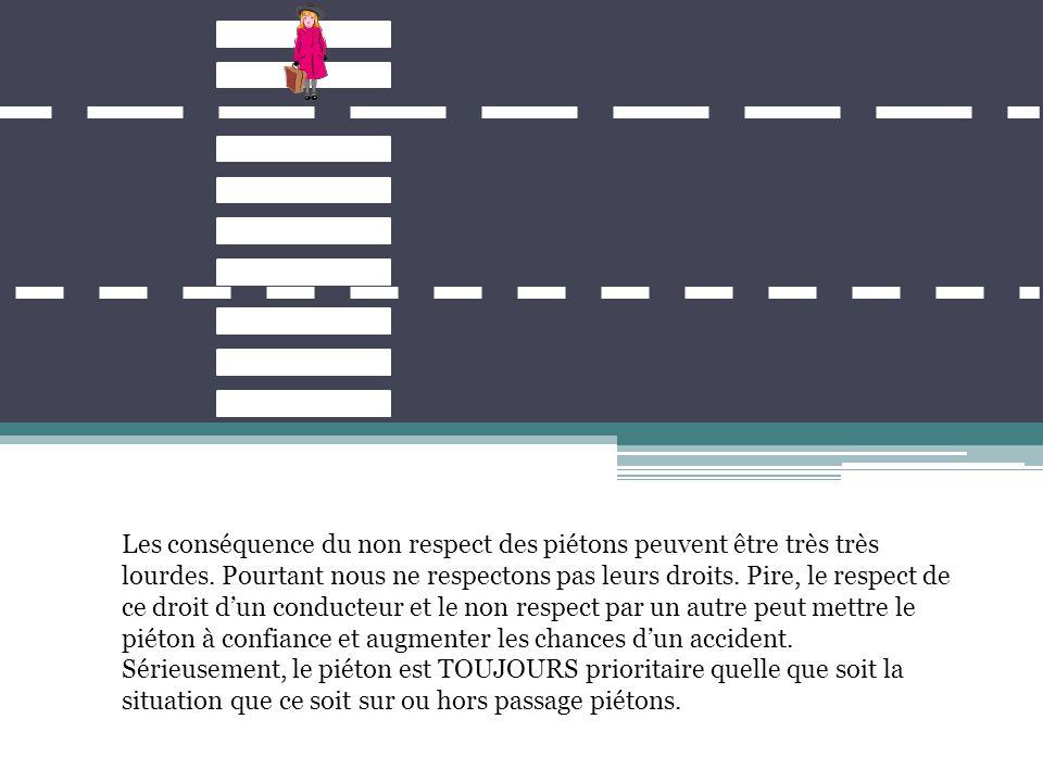 S'arrêter au-delà de la ligne d'arrêt, du passage piéton ou du feu de signalisation ne fait pas gagner du temps.