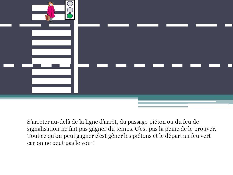 Il n'est pas interdit de garder de l'espace entre les voitures, au contraire.