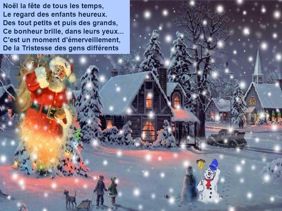 Je rêve d un Noël tout blanc, Je rêve d un Noël d amour.