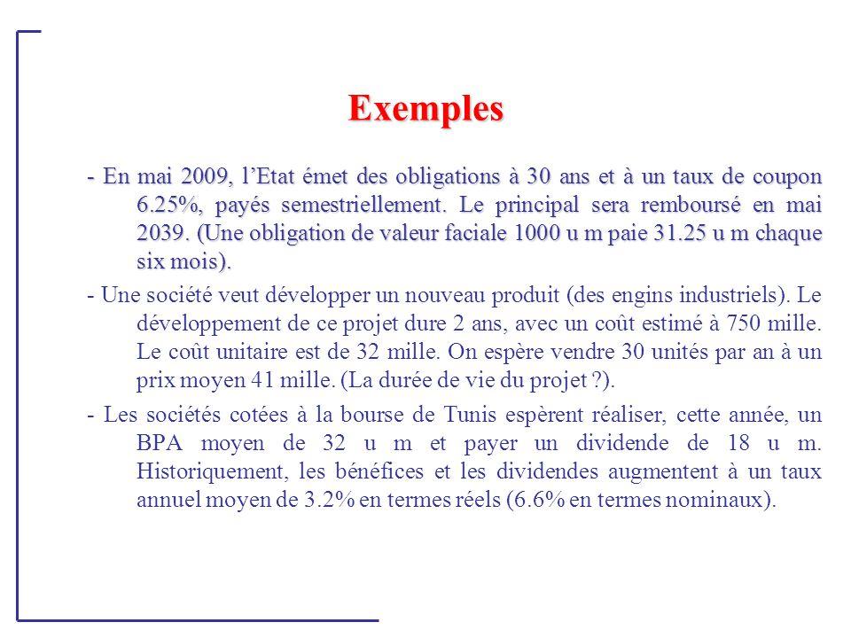 Cas particuliers - Difficultés -Taux proportionnel et taux équivalent -Inflation -Impôts -Devises et risque de change -Structure à terme des ti -Prévision des CF -Choix du bon taux d'actualisation