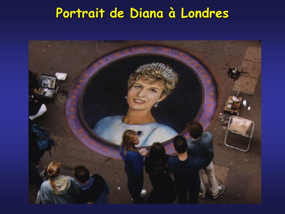 Portrait de Diana à Londres
